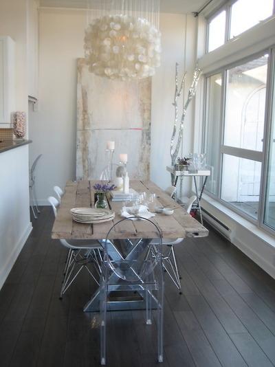 Mesas de desayuno en estilo rústico1