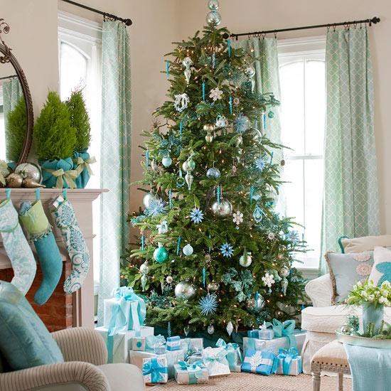 Nuevos colores para una nueva navidad - Como decorar un arbol de navidad azul ...