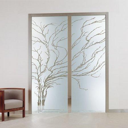 Puertas correderas de cristal for Puertas con vidrieras decorativas