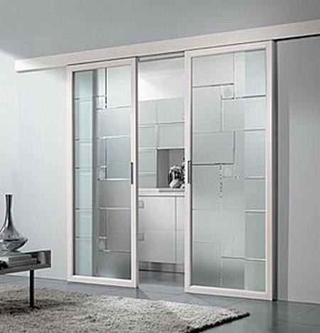 Puertas correderas de cristal for Puertas interiores de aluminio y cristal