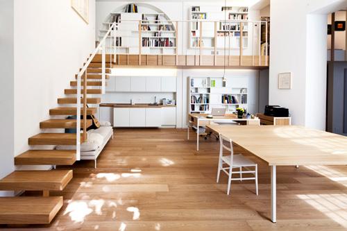 Oficina y hogar en un loft decorado para vivir 1