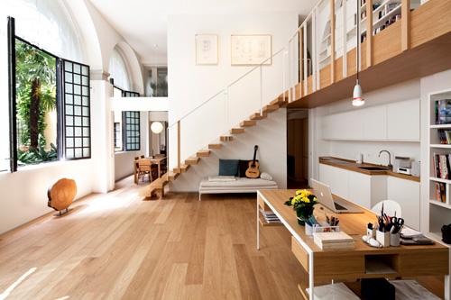 Oficina y hogar en un loft decorado para vivir 2
