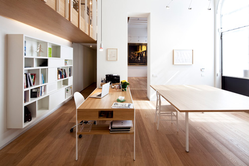 Oficina y hogar en un loft decorado para vivir 3