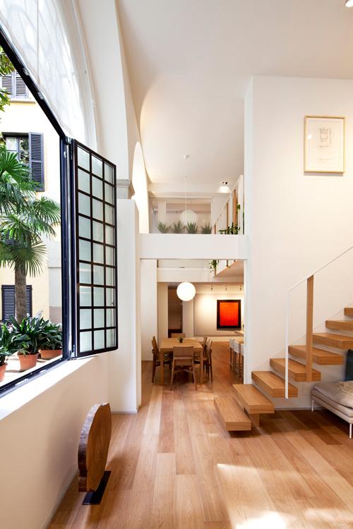 Oficina y hogar en un loft decorado para vivir 4