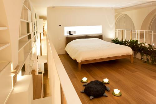 Oficina y hogar en un loft decorado para vivir 8