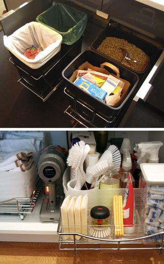 8 ideas para poner orden en la cocina for Organizador bajo fregadero ikea