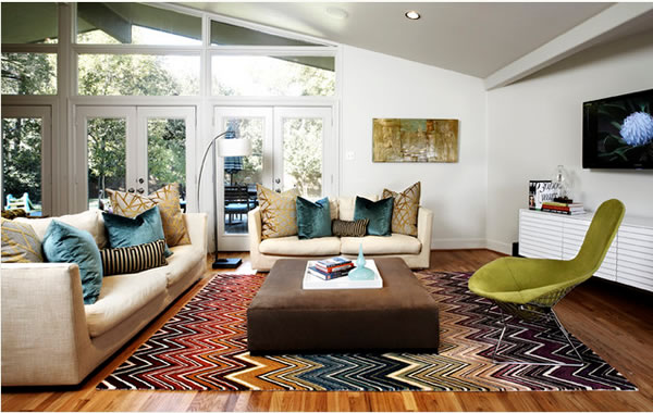 Viste tu casa con alfombras Alfombras grandes modernas