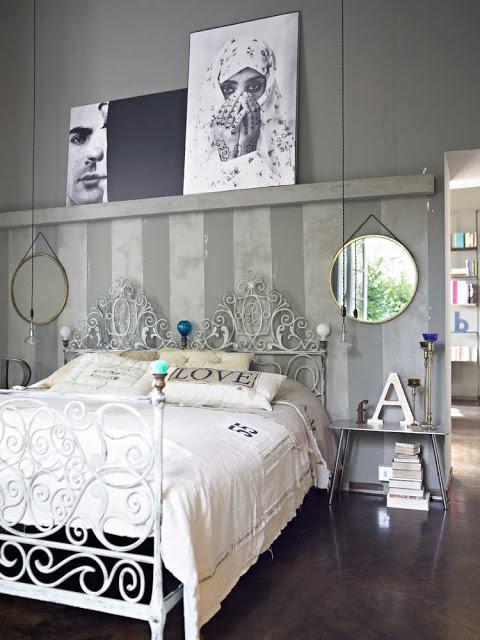 Una casa italiana llena de detalles vintage - Arredare la camera da letto in stile shabby chic ...