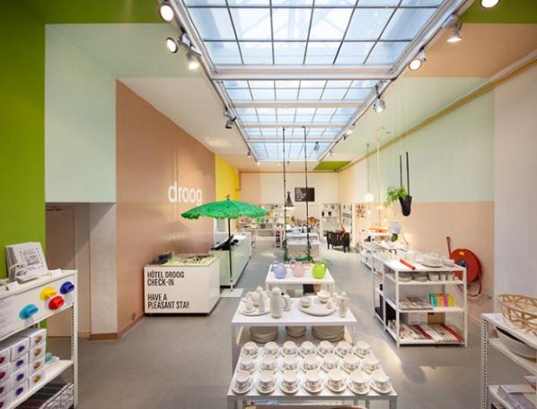 Dormir en la habitaci n de una tienda for Hotel design amsterdam centro