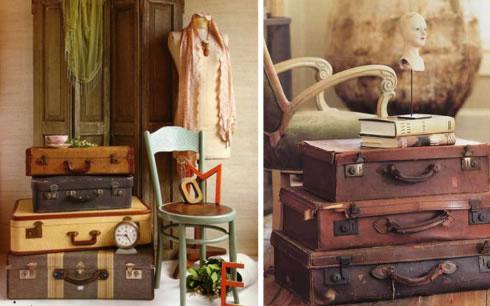 Decorar con objetos antiguos al estilo vintage - Salones estilo vintage ...
