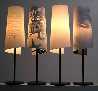 Iluminaci n con l mparas de papel - Como hacer una lampara de mesa ...