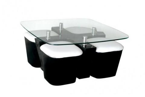 Modernas mesas de centro en madera for Mesas de centro de cristal modernas