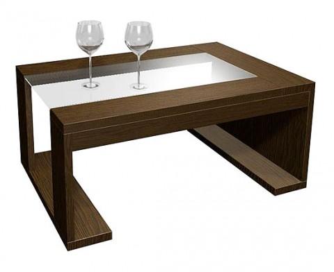 Modernas mesas de centro en madera for Centros de mesa de madera