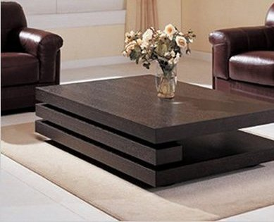 modernas mesas de centro en madera