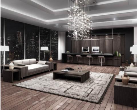 Departamento de decoración moderna 3