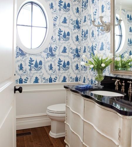 Diseno De Baño Para Adolescentes:White and Blue Bathroom