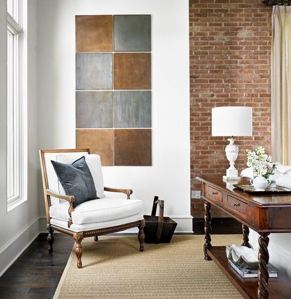 Arte moderno en un ambiente cl sico for Living estilo clasico