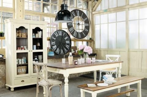 A ade relojes de pared a la decoraci n for Cortina de estilo industrial