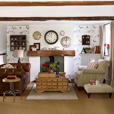 A ade relojes de pared a la decoraci n for Country living room ideas uk
