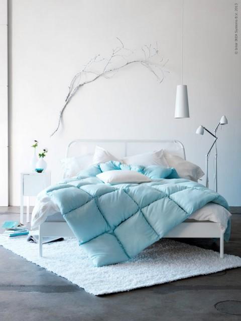 Diez dormitorios en azul for Dormitorio azul turquesa