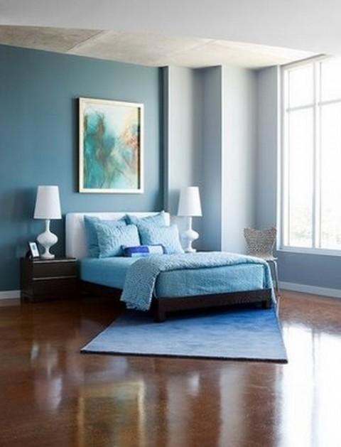 Habitaciones en color azul 7