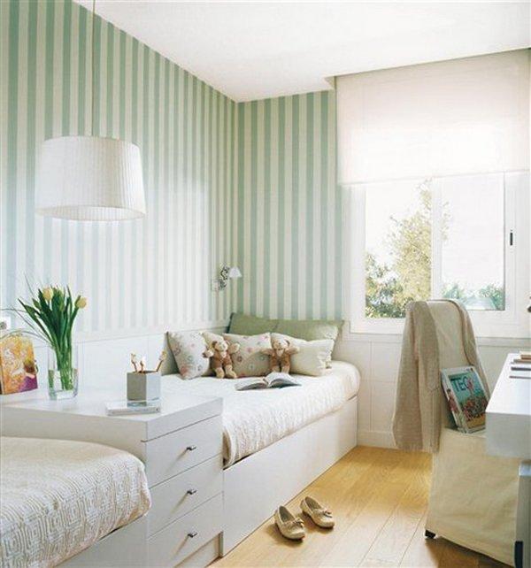 doce dormitorios decorados con papel pintado 01 gu a