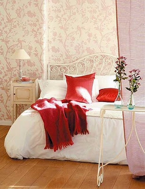 Habitaciones con papel pintado for Cuartos decorados con estrellas