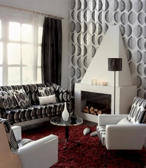 Habitaciones con papel pintado012