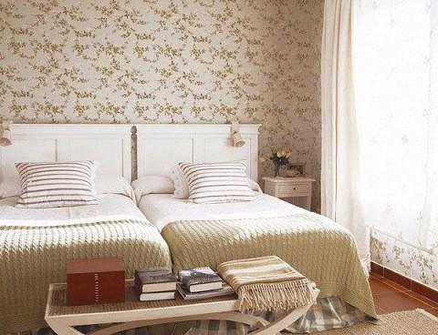 Habitaciones con papel pintado - Cuartos decorados ...