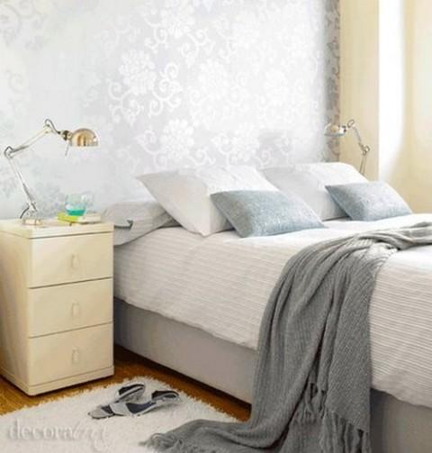 habitaciones con papel pintado