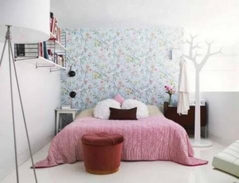 Habitaciones con papel pintado for Papel pared dormitorio