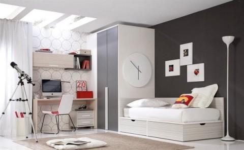 Habitaciones juveniles en estilo urbano - Habitaciones blancas juveniles ...