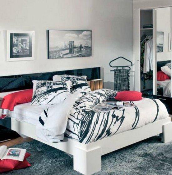 Habitaciones juveniles en estilo urbano for Cuadros para cuartos juveniles