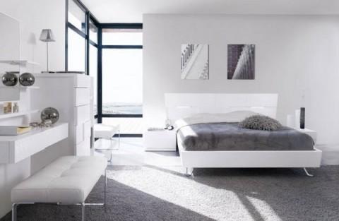 Sofisticados dormitorios en gris y blanco - Decoracion blanco y gris ...