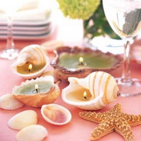 Propuestas originales para centros de mesa - Decoracion con conchas ...