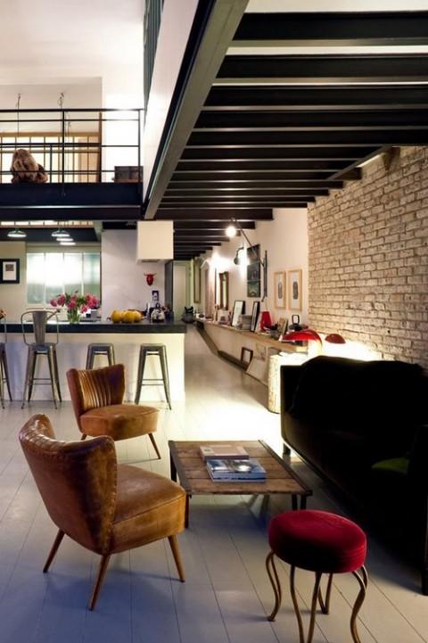 Un loft en un espacio industrial for Decoracion de loft pequenos