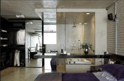 Loft moderno con elementos met licos for Loft modernos exterior