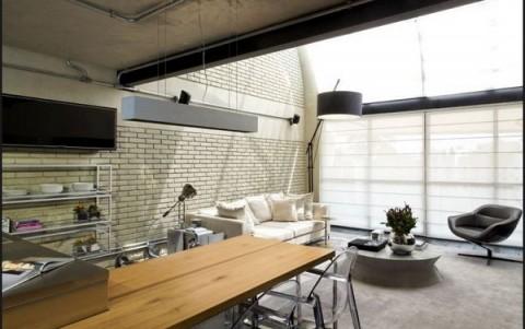 Loft moderno con elementos met licos for Casa de arquitecto moderno