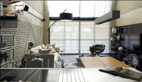 Loft moderno con elementos metálicos 4