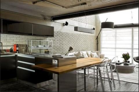 Loft moderno con elementos metálicos 7