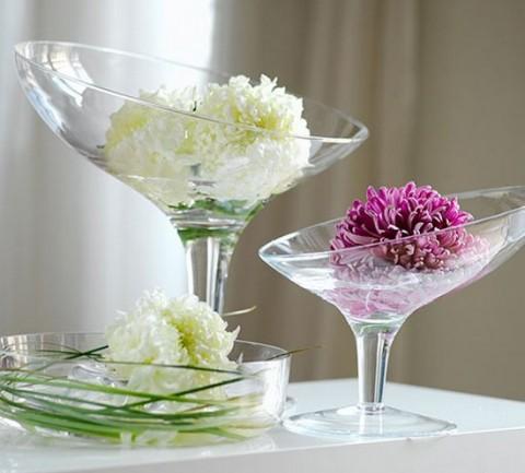 Otros usos para las copas de cristal - Como decorar un cristal de mesa ...