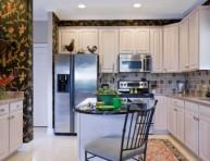 imagen Papel pintado en la cocina