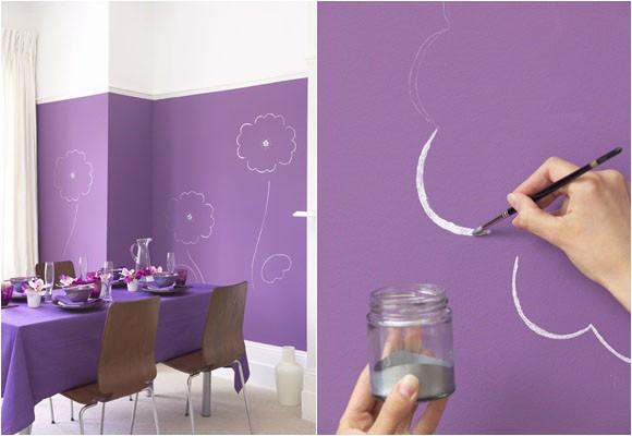 Pinta y dibuja las paredes - Formas de pintar paredes interiores ...