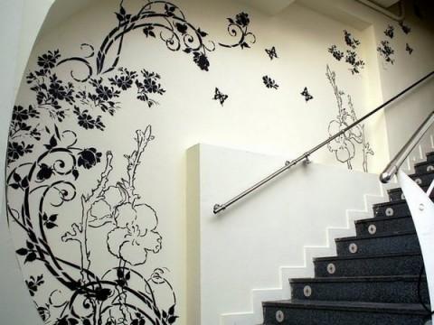 Pinta y dibuja las paredes - Dibujos decoracion paredes ...