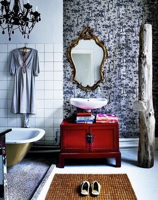 Estilo vintage en el baño010