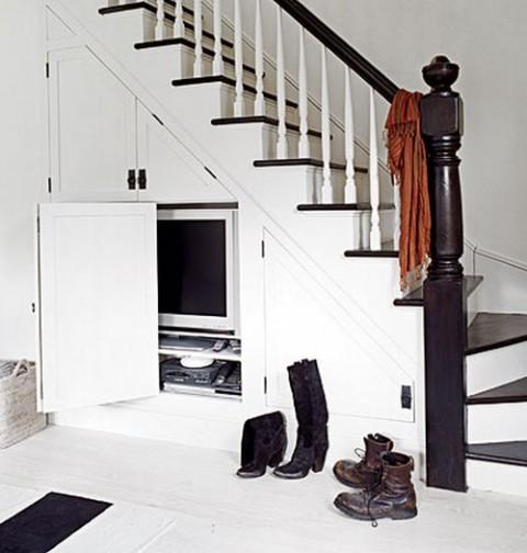 Las escaleras pueden ser multifunci n for Chimenea bajo escalera