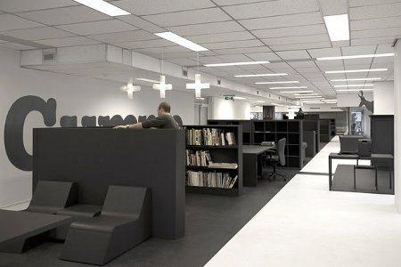 Una oficina en color gris1