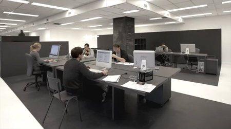 Una oficina en color gris4