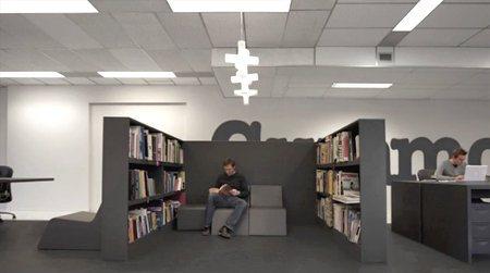 Una oficina en color gris6