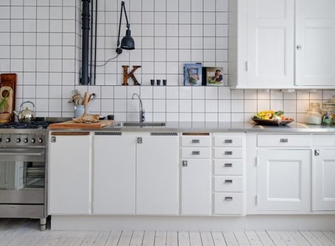Cinco propuestas para azulejos de cocina - Azulejos cocina blanco brillo ...
